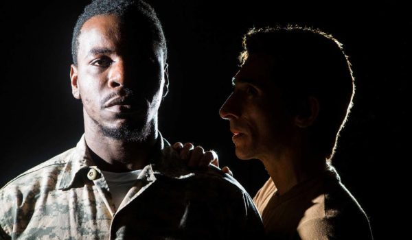 (L-R) Robert Richards Jr. and Giles Davies in Jobsite's Othello.
