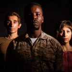(L-R) Giles Davies, Robert Richards Jr., and Tatiana Baccari in Jobsite's Othello.