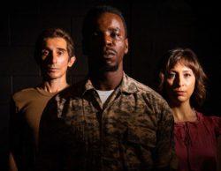(L-R) Giles Davies, Robert Richards Jr., and Tatiana Baccari in Jobsite's Othello.