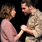 Tatiana Baccari and Joseph Michael-Kenneth in Jobsite's Othello. (Photo by Pritchard Photography.)