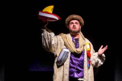 Spencer Meyers in Jobsite's The Complete Works of William Shakespeare (abridged). (Photo by Pritchard Photography.)