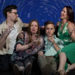 (L-R) Jamie Jones, Jonelle Meyer, Jordan Foote and Amy Gray in Jobsite's Meteor Shower. (Photo: Pritchard Photography)
