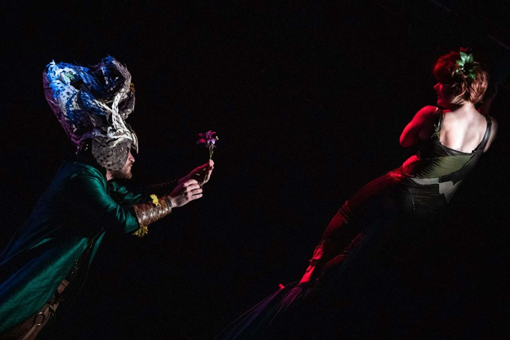 Adam Workman and Katrina Stevenson in Jobsite's A Midsummer Night's Dream. (Photo: Pritchard Photography.)
